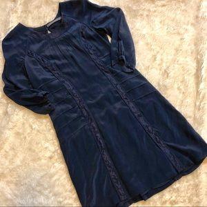 Boden Limited Edition Navy Blue Silk Shift Dress